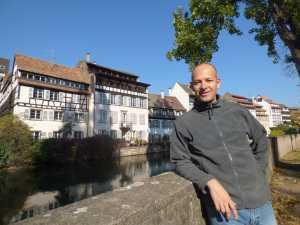 Eric à la Petite France à Strasbourg